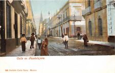 JALISCO MEXICO CALLE en GUADALAJARA~ITURBIDE #239 POSTCARD 1900s