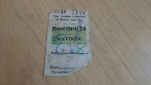 AQ544: Theatre Ticket - London Coliseum 1910 - Royal Circle 2/6 Matinee