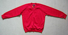 SCHOOL SWEATSHIRT RED V NECK 36 ADULT SIZE X SMALL 36INCHES