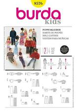 BURDA SEWING PATTERN DOLLS CLOTHES versatile wardrobe 8576 A