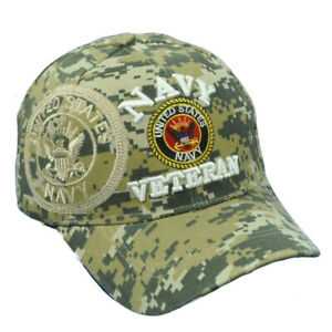 U.S United States Navy Veteran Digital Camouflage Camo Adjustable Hat Cap Vet