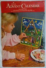 *Vintage Hallmark Advent Calendar The First Noel Nativity Christmas Card Sticker