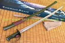 Military Sword Type 65 Cavalry Saber Top Stainless Blade Army Green Sheath
