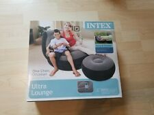 Ultra Lounge Inflatable Chair and Ottoman with Cup Holder, Intex Brand New