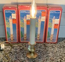 Vintage Solid Brass Electric Window Candle Lamp With On / Off Switch Lot Of 4