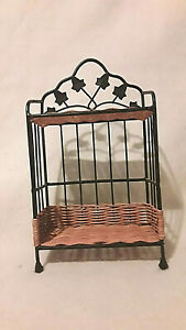 Wicker and black Iron Display