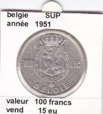 FB )pieces de 100 francs albert I 1951  belgie