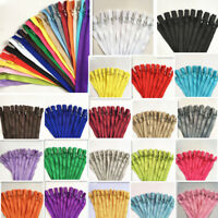 60pcs 3-39.5Inch (7.5-100cm) Nylon Coil Zipper Bulk for Sewing Craft mix