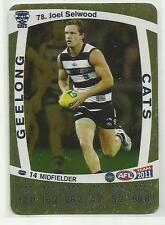 2011 AFL TEAMCOACH GOLD GEELONG CATS 78 Joel Selwood CARD
