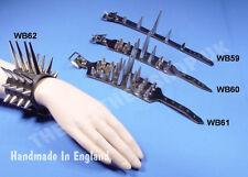 Kugel NEU verstellbar Leder Punk Design Armband UK gemacht Gothic Armband