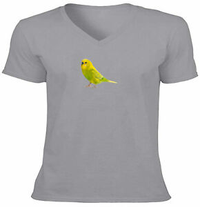 Adult Unisex Tee T-Shirt Gift Shirts Print Cute Yellow Bird Pet Budgie parakeet