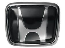 2x BLACK Honda hood boot badge emblem 65x55mm & 74x62mm (UK stock)