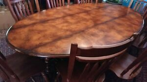 Custom Oval Dining Table (English Yew) to Seat 8
