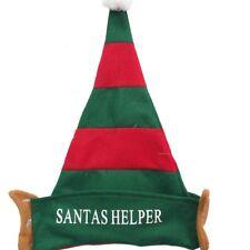 Adult Santa Helper Elf Hat Novelty Christmas Fancy Dress Office Party Ears