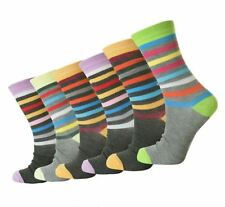 Unbranded Machine Washable Striped Everyday Socks for Women
