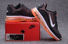 Nike AIR MAX 2017 Men's Running Shoes New Style Charcoal Gray/Orange/White sz 11