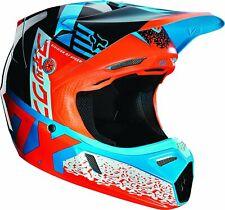 Fox Racing 2019 Divizion Youth V3 Motorcycle Helmet Red/Aqua, Small 15821-246-S