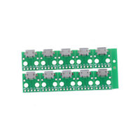 10Pcs Micro USB to DIP Adapter 5pin Female Connector B Type PCB Converter sd2