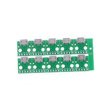 10 Pcs Micro USB à DIP Adaptateur 5pin Femelle B Type PCB Convertisseur 9H