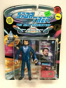 "NEW *Sealed* STAR TREK TNG 5"" Figure Riker as Malcorian from First Contact"