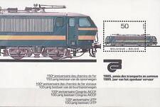 Belgien / Belgique Bl. 55** (2226**) Elektrolok Typ 27 (1979)