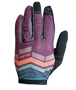 Pearl Izumi 2016 Women's Divide Full Finger MTB Gloves Deep Purple Large Bike