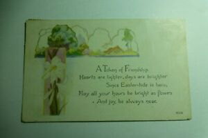 S418 A Token of FRIENDSHIP POSTCARD Posted in Iowa USA 1921