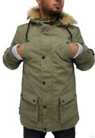 Zoo York Mens Boys Olive Race Parka Puffer Padded Hooded Winter Jacket Hip Hop