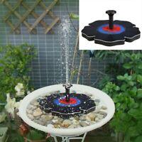 Solar Power Pump Bird Bath Fountain Water Floating Pond Pool Garden Patio Decor