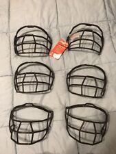 6 'Rawlings' Softball Batting Helmet Face Guards - Brand New - Black