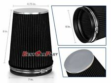 """BLACK 6"""" 152mm Inlet Truck Air Intake Cone Replacement Quality Dry Air Filter"""