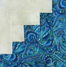 {16} Pre-Sewn / Pieced Log Cabin Quilt Blocks Timeless Belize ~ Paisley