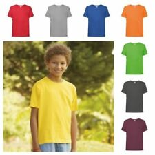 Fruit of the Loom Patternless Crew Neck T-Shirts, Tops & Shirts (2-16 Years) for Boys
