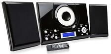 CD Player GTMC-101 Black Micro Stereo Hi Fi System USB Aux In Clock Alarm Radio