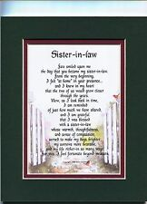 #91 Gift Poem Present For A Sister-in-law