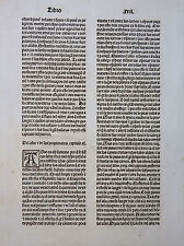 INKUNABELBLATT SPANISCHE ENZYKLOPÄDIE BARTHOLOMAEUS ANGLICUS TOULOUSE MEYER 1494