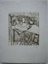"""Pit Morell (1939) """"Schmale Strafe 14"""" Orig Radierung signiert datiert 41/50"""