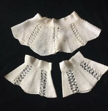 Antique/VTG Lace Crochet High Collar Cuff Victorian Edwardian Dress Trim Costume