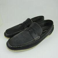 Madden by Steve Madden Mens Moccasins Loafer Shoes Size 13 Black Leather