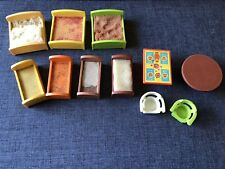 Vintage Fisher Price Little People Beds Chairs Seats Furniture Lot Of 11