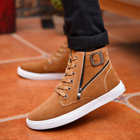 Fashion Mens Casual High Top Shoes Lace Up Skateboard Sneakers boots