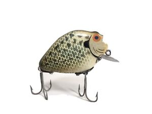 Heddon Punkinseed Lure740 CRA Under Chin Wood Crappie Dowagiac Old Fishing