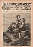 1869 Harpers Weekly October 9 - Albany; Central park Music; Wickford RI; Shippen