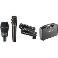 Audio-Technica PRO-DRUM4 Drum Mic Pack w/ Kick, Snare, Toms & Case
