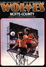 1981/82 Wolverhampton Wanderers v Notts County, Division 1, PERFECT CONDITION