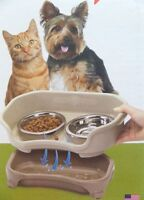 Neater Pet Feeder Express Mess Proof & Elevated Pet Feeding Bowls Cat Small Dogs