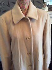London Fog Beige 85% Wool 10% Silk Long Coat Size 10 RegularExcel Cond