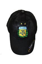 ARGENTINA BLACK AFA LOGO FIFA WORLD CUP ACID WASHED EMBOSSED HAT CAP .. NEW