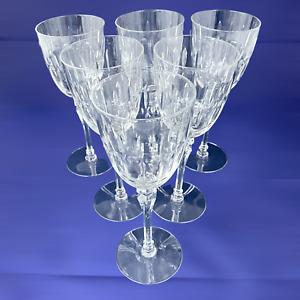 Vintage Antique Late Victorian Stemware Wine Glasses - Hexagonal Stem – Set of 6