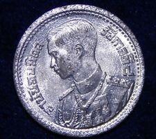 *GEM BU* Thailand 1946 BE 2489 25 Satang Siam Rama VIII & Garuda Nice Tin Coin!